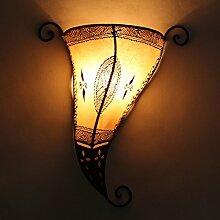 Orientalische Henna-Wandlampe Mina Weiss