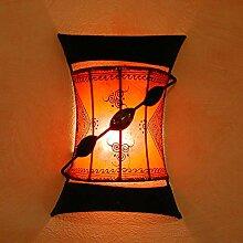 Orientalische Henna-Wandlampe Touargiya Orange