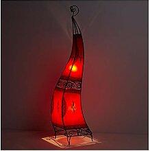 Orientalische Hennalampe Marokkanische Lederlampe