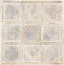 Orientalische Holz Ornament Wanddeko Anida Weiss