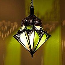 Orientalische Lampe Jawhara Grün Weiß