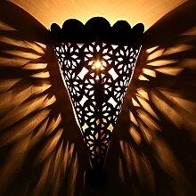 """Orientalische Lampe Leuchte Wandlampe Marokkanische Lampen Laternen Wandlampen Eisenwandlampen Eisen Wandlampe Marokkanisch Orientalisch """"""""EWL11"""