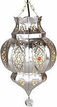Orientalische Lampe Pendelleuchte Argana Silber