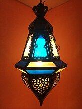 Orientalische Lampe Pendelleuchte Blau Anya 35cm