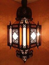 Orientalische Lampe Pendelleuchte Bunt Askin 56cm E27 Lampenfassung | Marokkanische Design Hängeleuchte Leuchte aus Marokko | Orient Lampen für Wohnzimmer Küche oder Hängend über den Esstisch