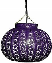 Orientalische Lampe Pendelleuchte Candan Blau E27