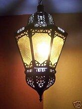 Orientalische Lampe Pendelleuchte Gelb Ksar 53cm