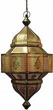 Orientalische Lampe Pendelleuchte Gold Enes 60cm