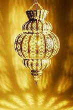 Orientalische Lampe Pendelleuchte Gold Harem 45cm
