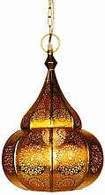 Orientalische Lampe Pendelleuchte Gold Ilham 40cm
