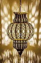 Orientalische Lampe Pendelleuchte Gold Isfahan
