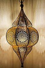 Orientalische Lampe Pendelleuchte Gold Malha 50cm