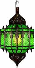 Orientalische Lampe Pendelleuchte Grün Alia 50cm