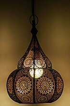 Orientalische Lampe Pendelleuchte Ilham Schwarz