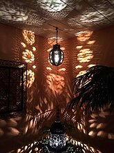 Orientalische Lampe Pendelleuchte Rostfarben Dunya