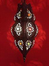 Orientalische Lampe Pendelleuchte Rostfarben Habiba E27 Lampenfassung   Marokkanische Design Hängeleuchte Leuchte aus Marokko   Orient Lampen für Wohnzimmer, Küche oder Hängend über den Esstisch