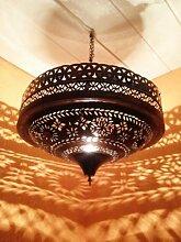 Orientalische Lampe Pendelleuchte Rostoptik Ashya