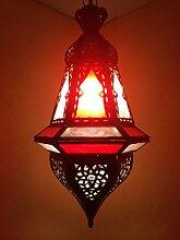 Orientalische Lampe Pendelleuchte Rot Anya 35cm