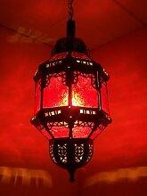 Orientalische Lampe Pendelleuchte Rot Fula 45cm