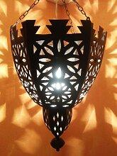 Orientalische Lampe Pendelleuchte Schwarz Frana