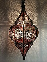 Orientalische Lampe Pendelleuchte Schwarz Malhan