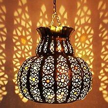 Orientalische Lampe Pendelleuchte Silber Beyla