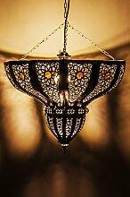 Orientalische Lampe Pendelleuchte Silber Cal 45cm