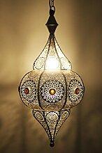 Orientalische Lampe Pendelleuchte Silber Elif 53cm