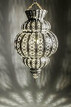 Orientalische Lampe Pendelleuchte Silber Harem