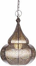 Orientalische Lampe Pendelleuchte Silber Ilham