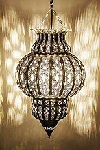 Orientalische Lampe Pendelleuchte Silber Isfahan