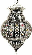 Orientalische Lampe Pendelleuchte Silber Jilan