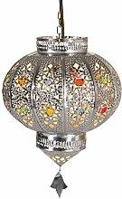 Orientalische Lampe Pendelleuchte Silber Malak E27