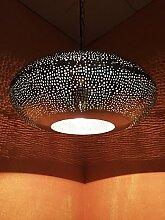 Orientalische Lampe Pendelleuchte Silber Qytura
