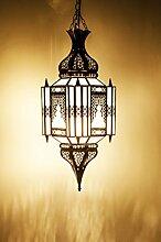 Orientalische Lampe Pendelleuchte Weiß Aariz 60cm