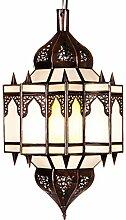 Orientalische Lampe Pendelleuchte Weiß Alia 50cm