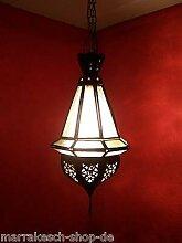 Orientalische Lampe Pendelleuchte Weiss Moulay