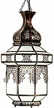 Orientalische Lampe Pendelleuchte Weiß Nebi 45cm
