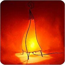Orientalische Lampe Stehlampe marokkanische Hennalampe Lederlampe Tischleuchte Stehleuchte Orient Marrakesch einfarbig 60 cm Color Orange