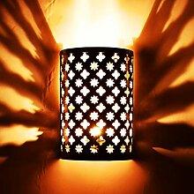 Orientalische Lampe Wandleuchte Hafssa gold 25cm