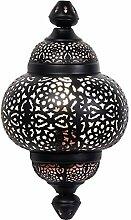Orientalische Lampe Wandleuchte Serap Schwarz 44cm