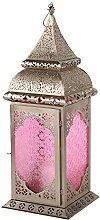 Orientalische Laterne Madila Windlicht silber Orientlampe Gartenlaterne 55cm (Pink)