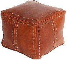 Orientalische Leder-Sitzkissen Pouf Sitzwürfel