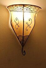 Orientalische Leder-Wandlampe Samira Natur