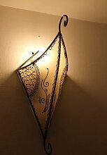 Orientalische Leder-Wandlampe Sara Natur