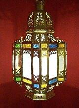 Orientalische Marokkanische Hängeleuchte Lampe Laterne Moulati aus messing