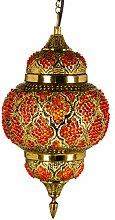 Orientalische Messing Lampe Pendelleuchte Gold