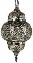 Orientalische Messing Lampe Pendelleuchte Silber