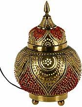 Orientalische Messing Tischlampe Lampe Abidah 28cm