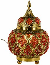 Orientalische Messing Tischlampe Lampe Alyah 28cm